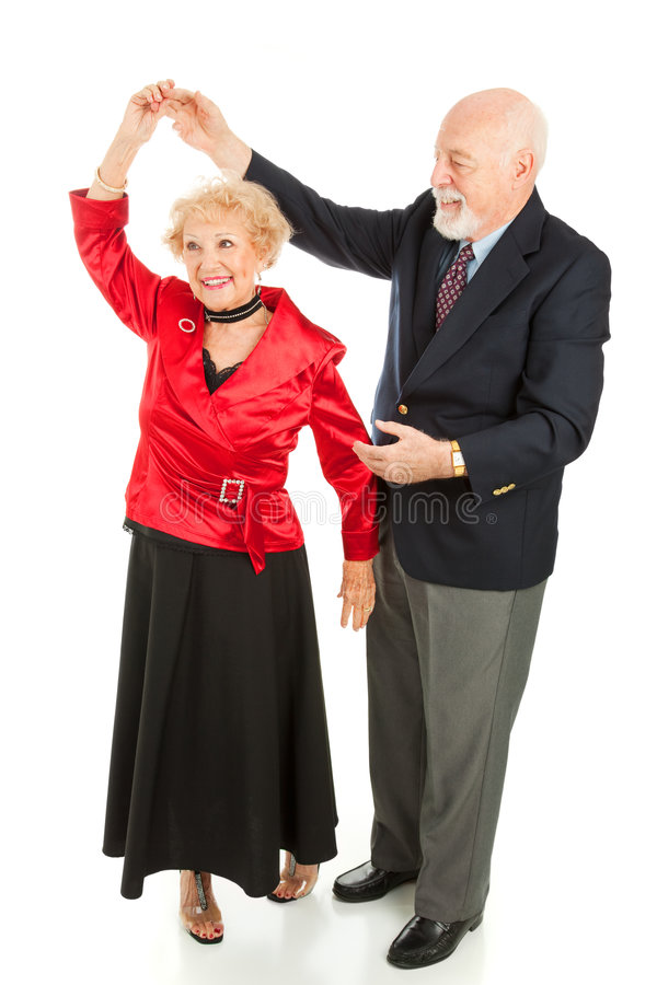 Dancing maggiore - rotazione fotografia stock