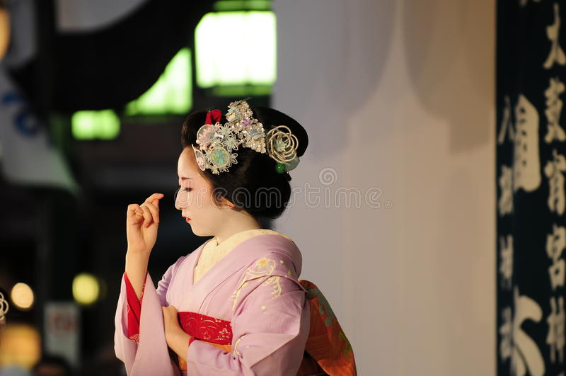 Dancing maiko stock photos