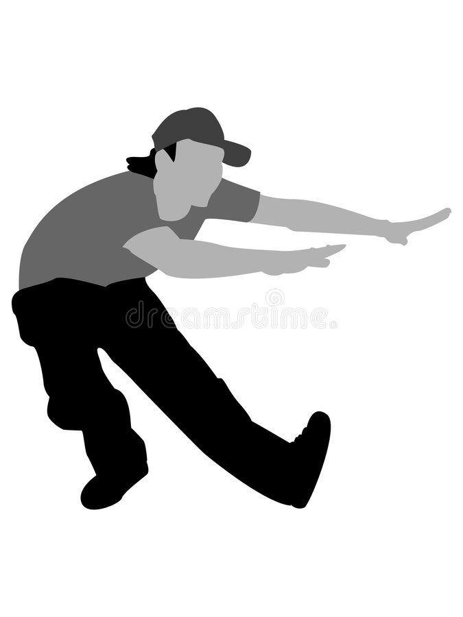 Download Dancing male with cap stock illustration. Image of action - 8874528
