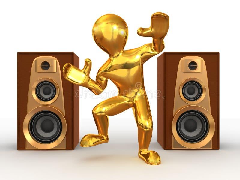 Download Dancing man stock illustration. Illustration of public - 7352318