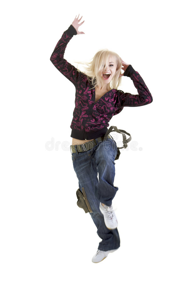 Dancing with me royalty free stock photography