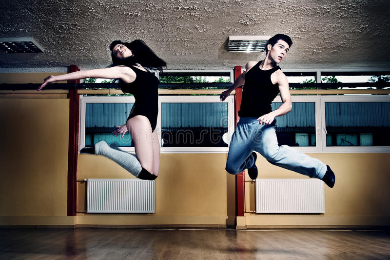 Dancing moderno immagine stock libera da diritti