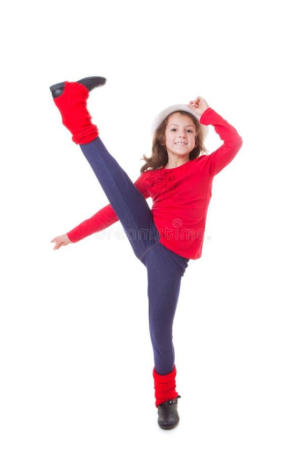 Dancing moderno della ragazza fotografia stock