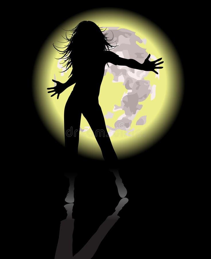 Dancing Moon Royalty Free Stock Image