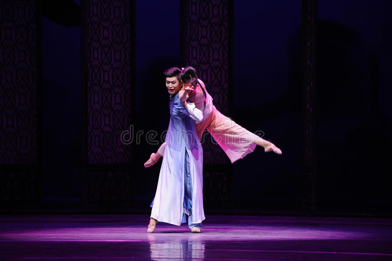 Dancing in the moonlight-The second act of dance drama-Shawan events of the past. Guangdong Shawan Town is the hometown of ballet music, the past focuses on the royalty free stock image