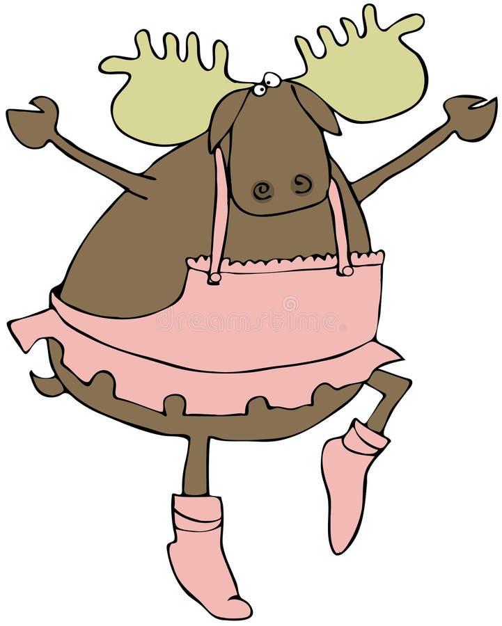 Dancing Moose vector illustration