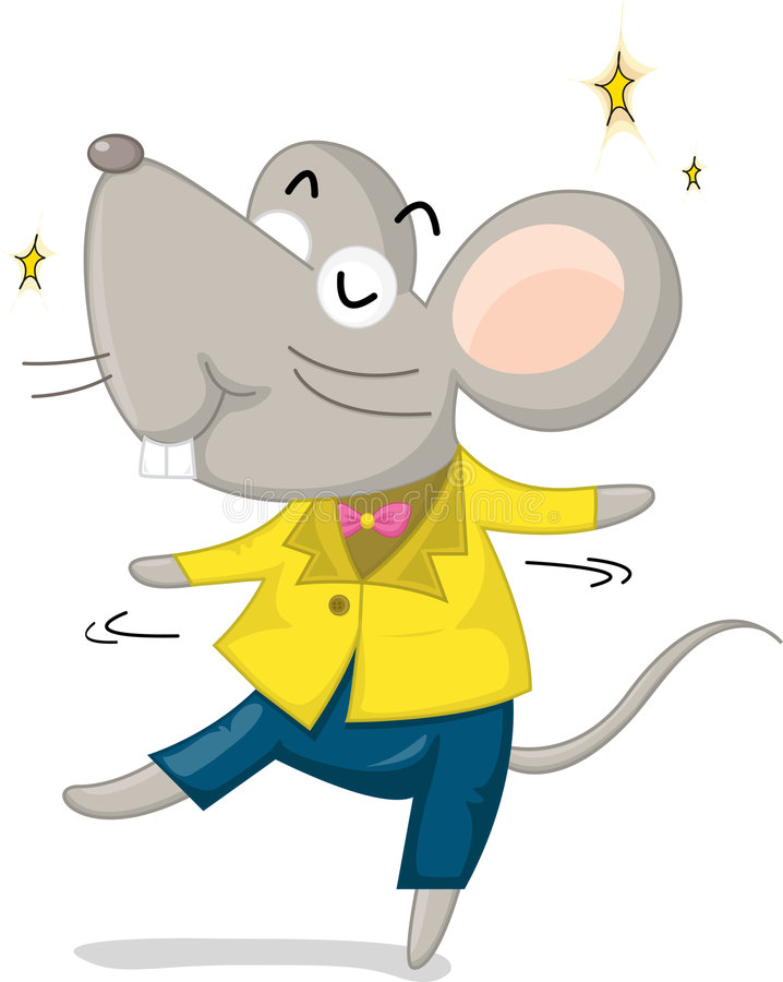 Download Dancing mouse stock illustration. Image of jacket, gnaw - 9191361