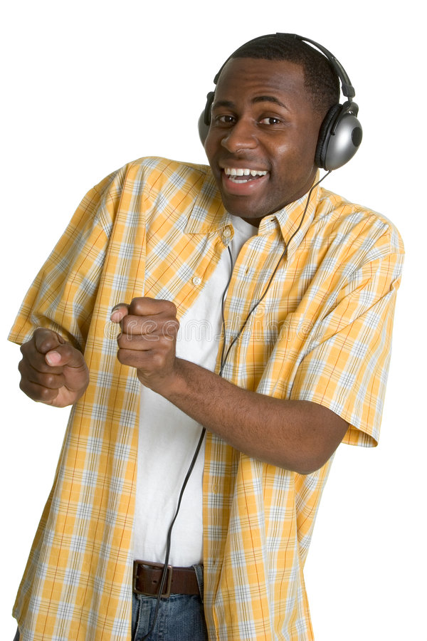 Dancing Music Man stock photo