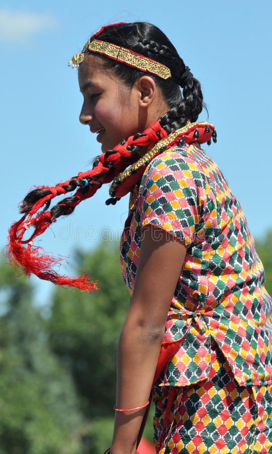 Download Dancing Nepali Girl editorial photography. Image of decorated - 20530732