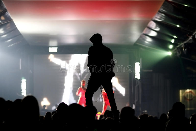 Dancing in the night club stock photos
