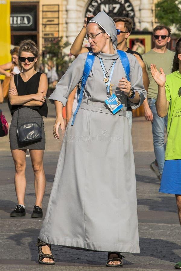Dancing nun royalty free stock photos