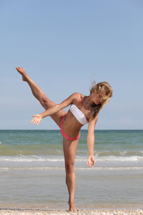 Free Dancing On The Beach Royalty Free Stock Photo - 10674005