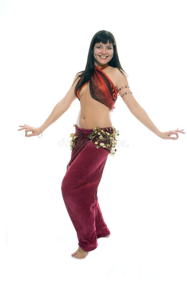 Dancing orientale della donna di bellezza immagine stock libera da diritti