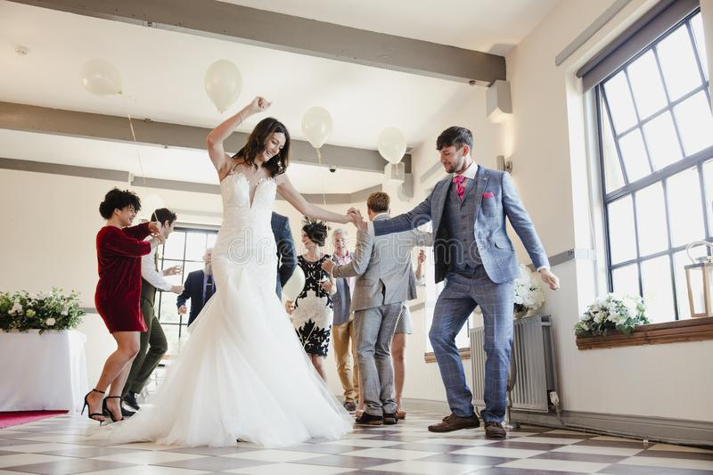 Dancing On Our Wedding Day royalty free stock image