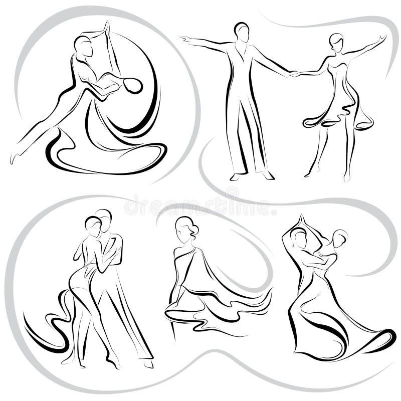 Dancing pair royalty free illustration