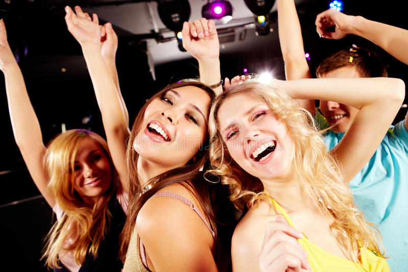 Dancing at party royalty free stock image