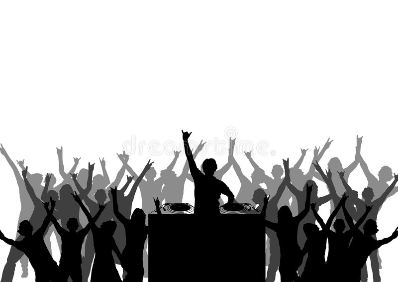 Dancing at a party stock illustration