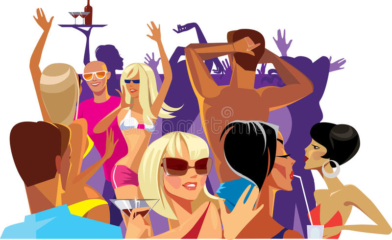 Download Dancing on a party stock illustration. Image of communicative - 25406580