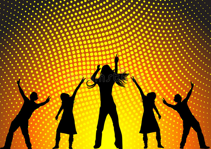 Download Dancing at a party stock vector. Image of illustration - 3047986