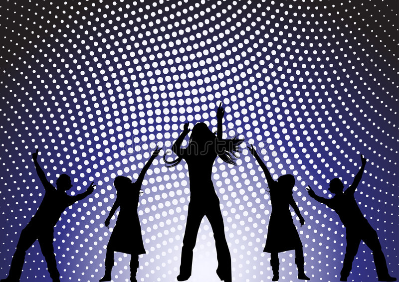 Dancing at a party vector illustration