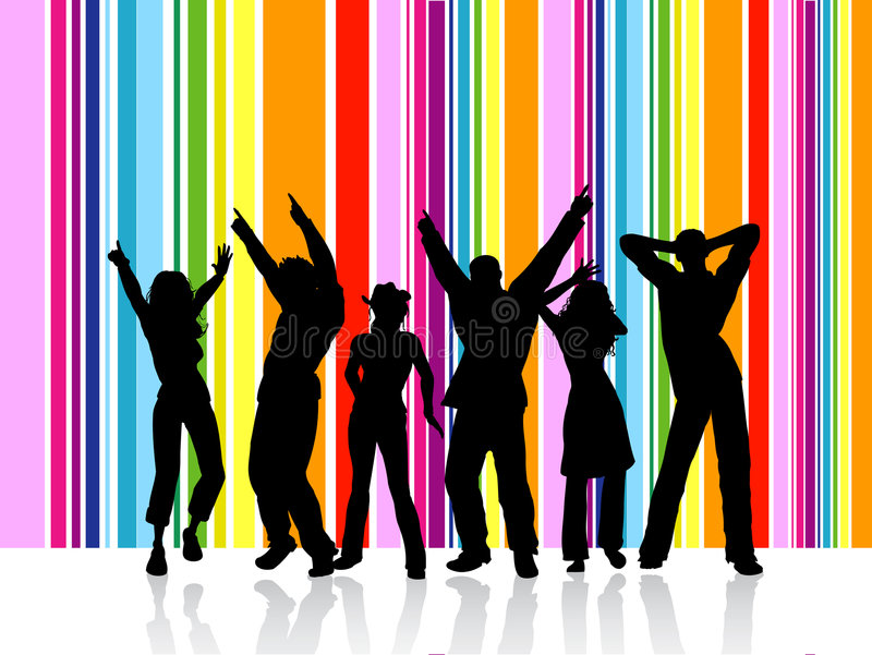 Dancing people vector illustration