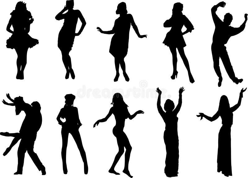 Dancing people vector illustration