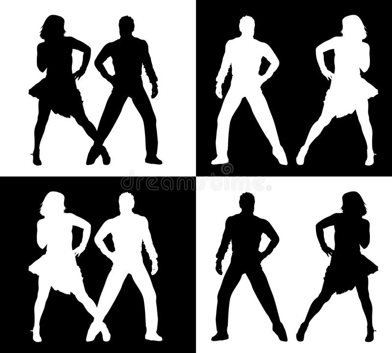Download Dancing people silhouettes stock illustration. Image of celebrate - 23267362