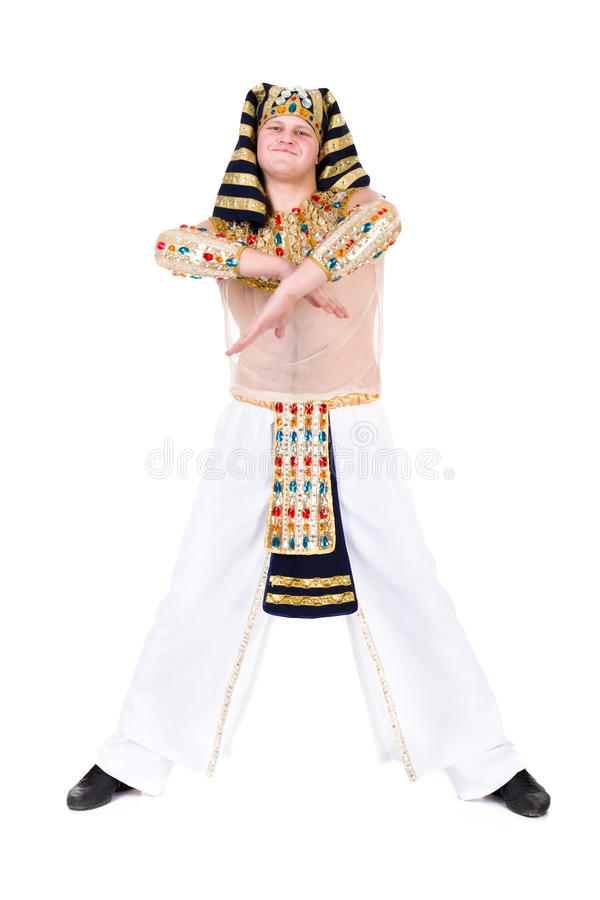 Download Dancing Pharaoh Wearing A Egyptian Costume. Royalty Free Stock Images - Image: 29646049