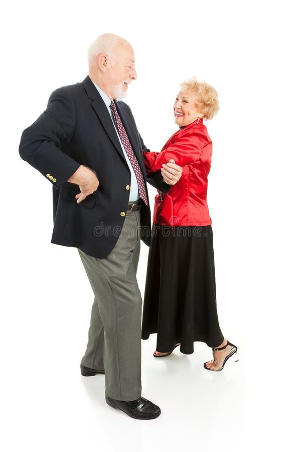 Dancing quadrato degli anziani fotografia stock libera da diritti