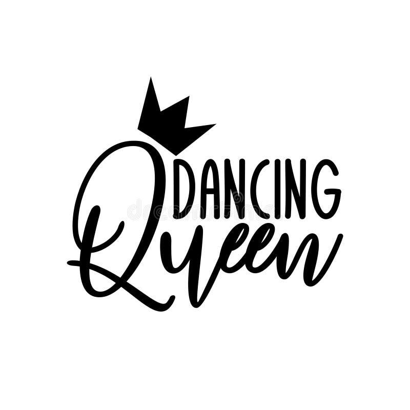 Free Dancing Queen- Positive Handwritten Text. Stock Image - 160746221