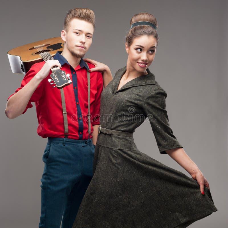 Dancing Retro Young Couple Stock Photo