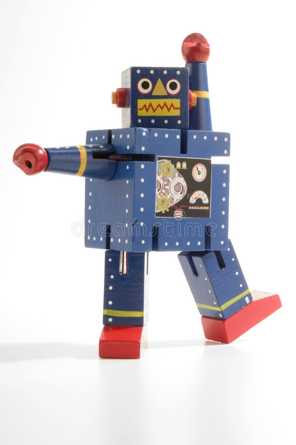 Dancing Robot (blue) royalty free stock photo