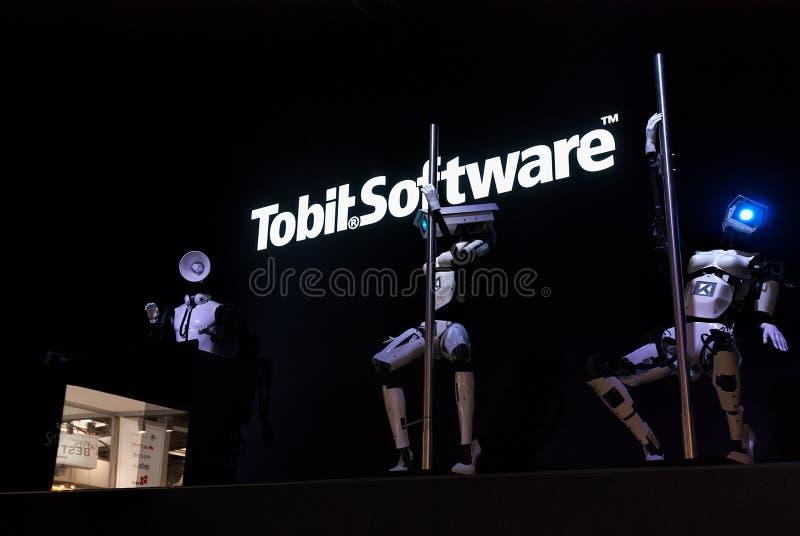 Download Dancing Robots And DJ, Cebit Editorial Stock Photo - Image: 38843513