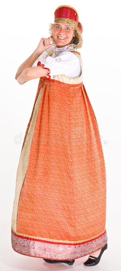 Dancing Russian woman royalty free stock images