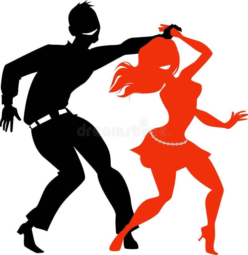 Dancing salsa clip-art royalty free illustration