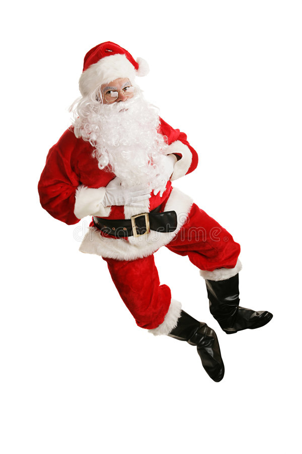 Free Dancing Santa Airborne Royalty Free Stock Photo - 3449855