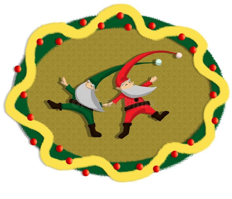 Download Dancing santa garland stock illustration. Image of december - 12252628