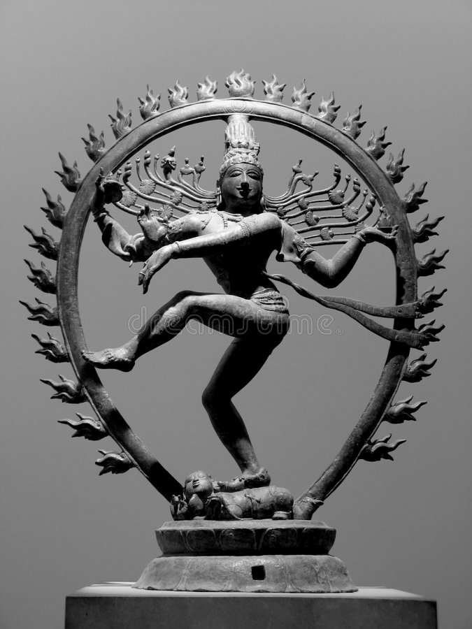 Dancing Shiva stock image