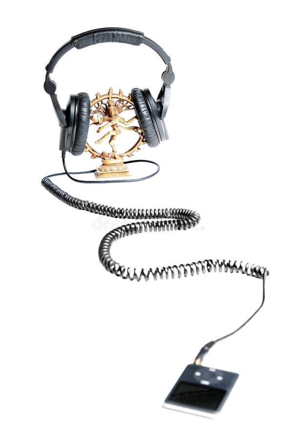Dancing Shiva in telefoni capi con il giocatore mp3 fotografia stock