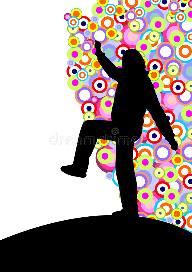 Download Dancing silhouette stock vector. Illustration of music - 5533789