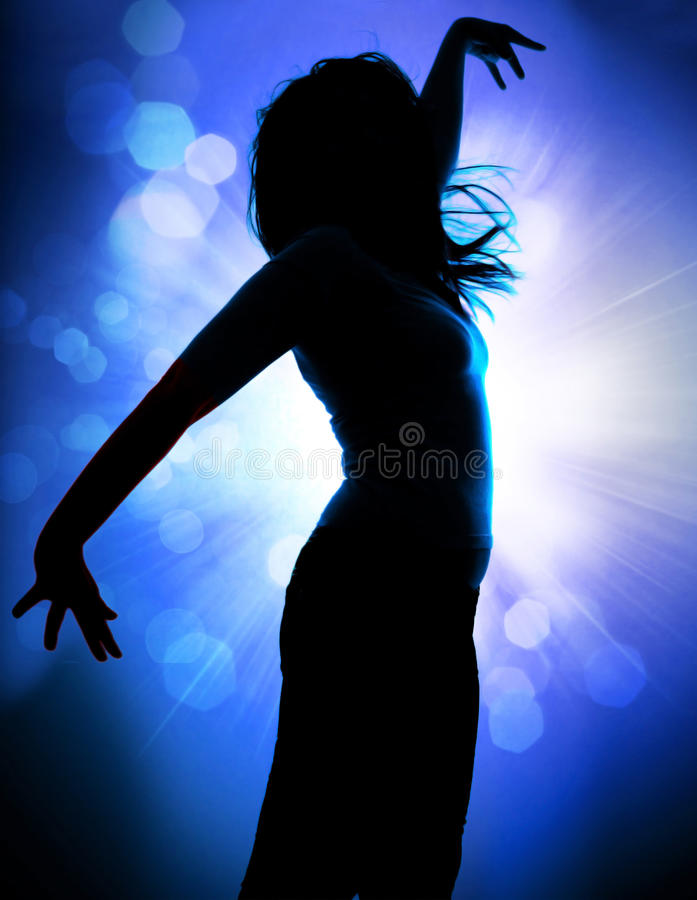 Dancing silhouettes 3 stock image