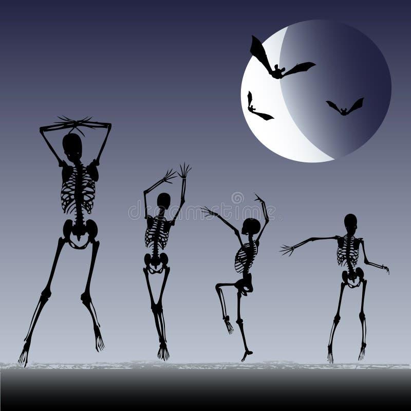 Download Dancing Skeletons stock vector. Image of ghost, night - 10978912