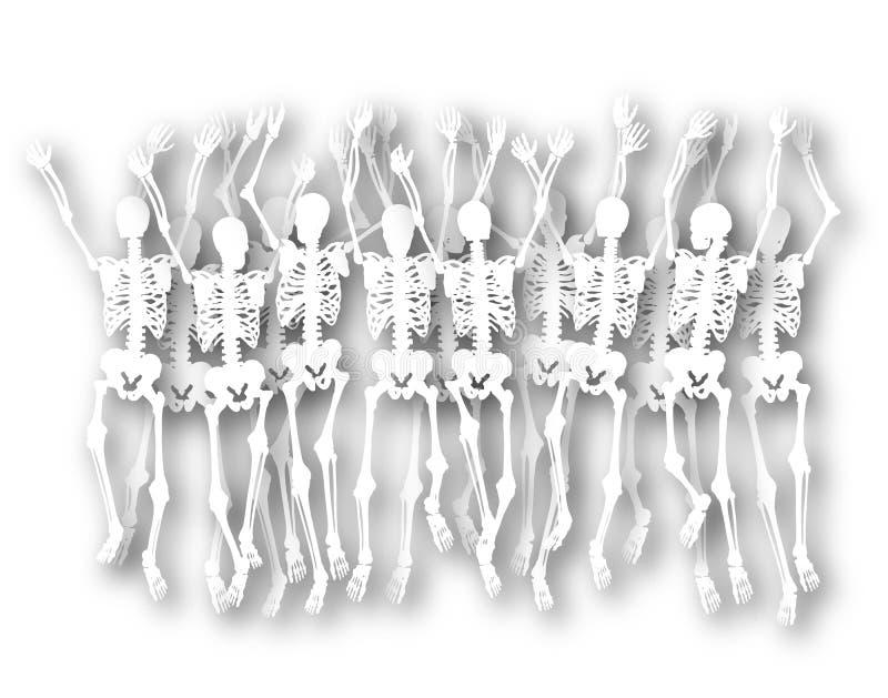 Download Dancing skeletons stock illustration. Image of waving - 14259985