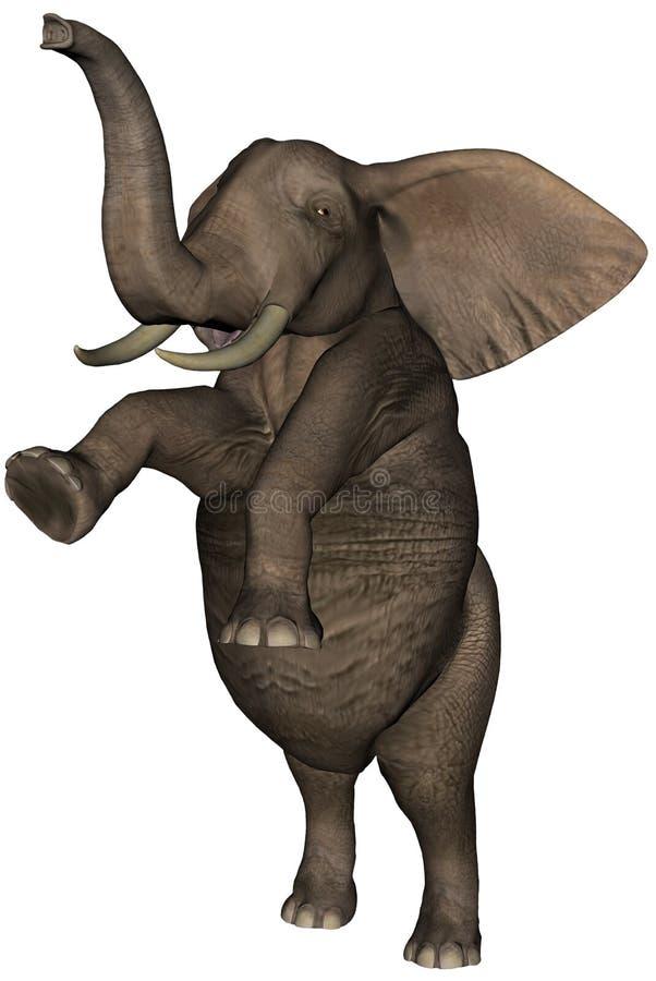 Dancing Standing Elephant Illustration Isolated royalty free illustration