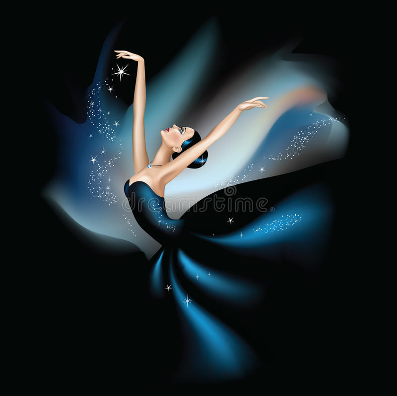 Dancing with the stars stock illustration