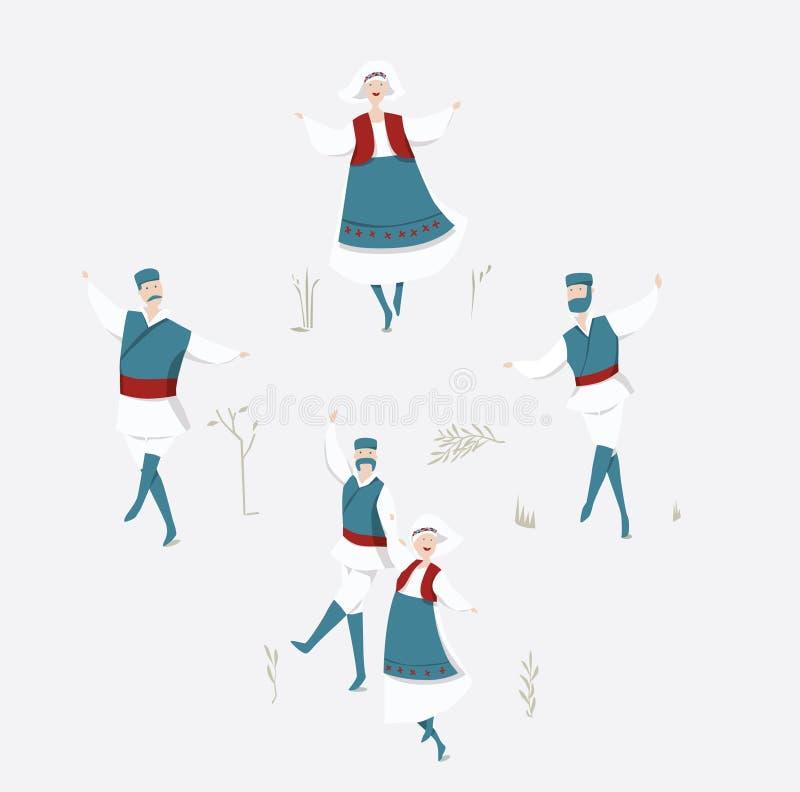 Dancing tradizionale royalty illustrazione gratis