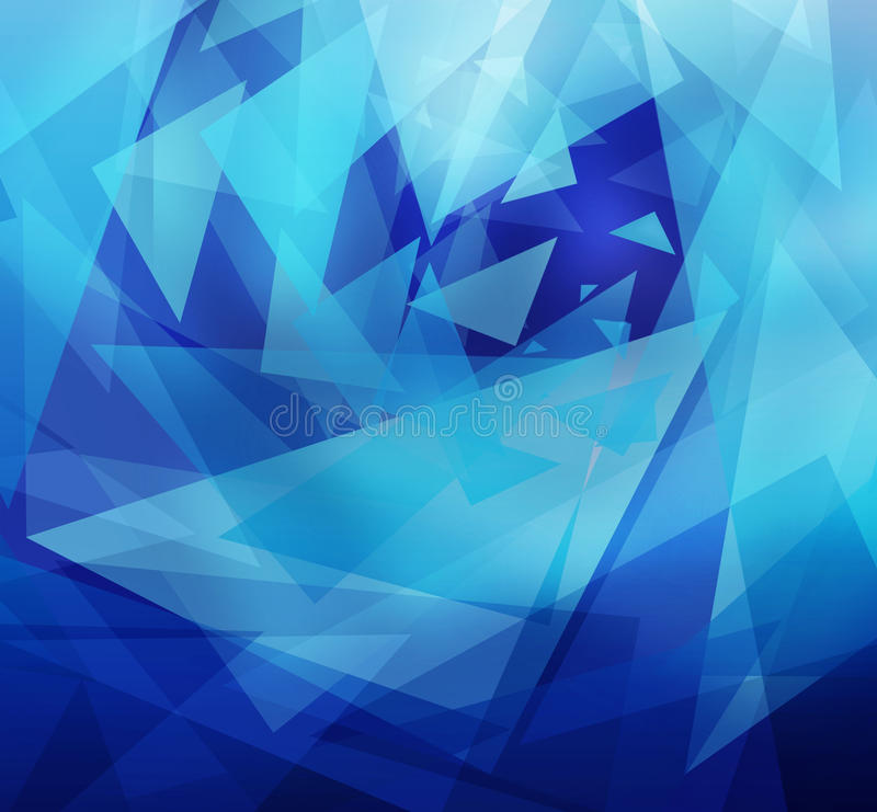 Dancing triangles royalty free illustration