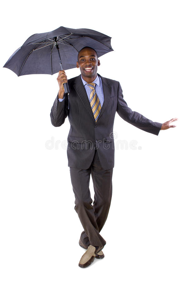 Dancing with an Umbrella stock photography