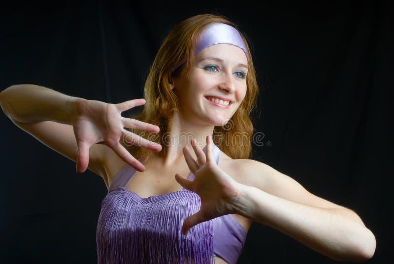 Dancing woman stock images