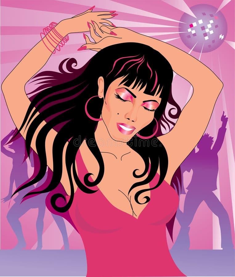 Download Dancing woman stock vector. Illustration of glance, magenta - 7074057